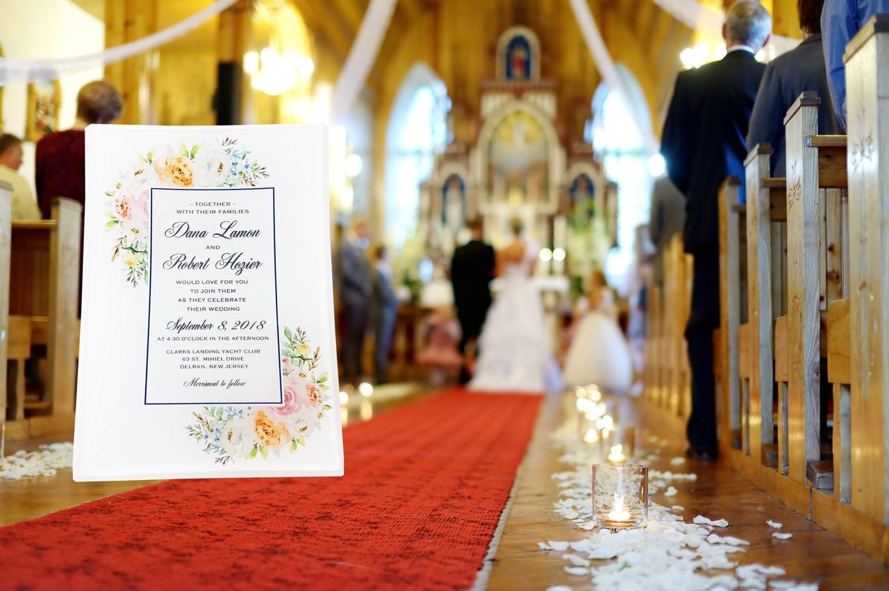 Wedding Invitation printed on glass tray